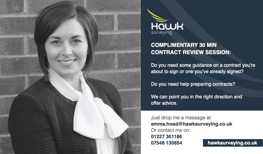 Hawk Surveying offer of a free contract review session